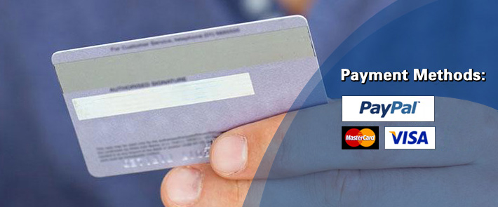 Pay via PayPal,Credit Card,Western Union